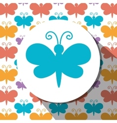 Butterfly cute cartoon graphic vector