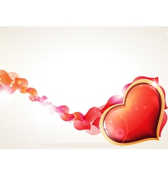 Heart and petals vector