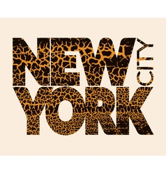 New york city typography graphic craquelure vector