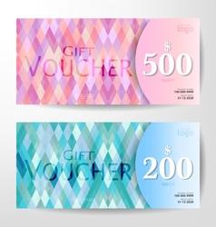 pastel vouchers vector image