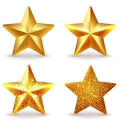 Set of shiny golden stars vector image