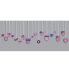 Usa symbols on ropes vector