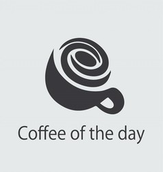 Coffe of the day logo vector