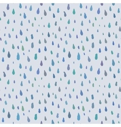 Cute decorative seamless pattern with raindrops vector image