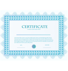 a custom certificate template with guilloche vector image vector image