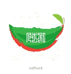 Art poster with inscription Nature in the style of vector image