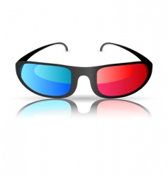 cinema glasses vector image vector image