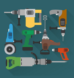 concept builders tools modern flat background vector image