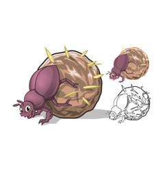 Dung Beetle Cartoon Character vector image vector image
