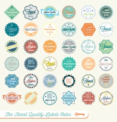 Finest quality labels color vector