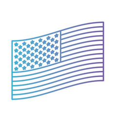 Flag united states of america flat side design in vector