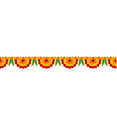 Flower garland decoration toran for happy diwali vector