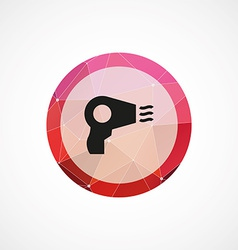 hairdryer circle pink triangle background icon vector image vector image