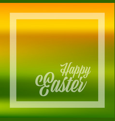 happy easter quote banner or greeting card in vector image