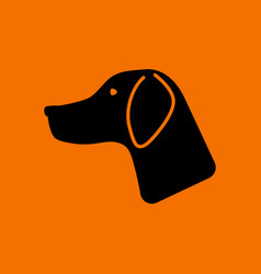 hunting dog had icon vector image