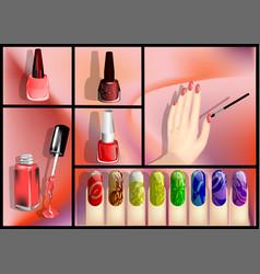 Nail polish set vector