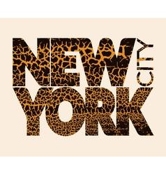 New York city Typography Graphic Craquelure vector image