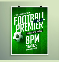 Soccer league flyer design sports invitation vector