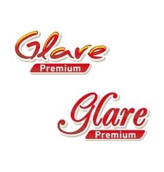Text logo glare premium vector