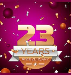 Twenty three years anniversary celebration design vector