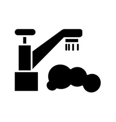 water droplet - tap - washing icon vector image
