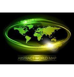world abstract shine green vector image vector image
