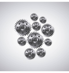 Gears machine settings icon vector