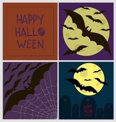 Halloween poster card set vector