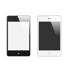Realistic smart phone with blank screen set with vector