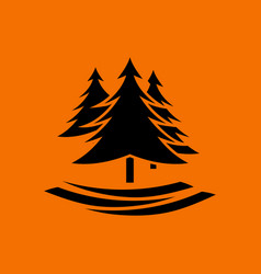 Fir forest icon vector