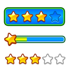 Progress bar set with stars vector