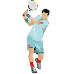 tennis 01 vector image