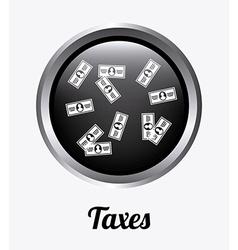 taxes design vector image