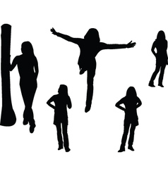 posing girl - vector image