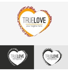 Love logo concept vector