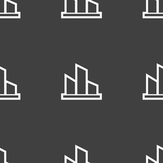 Diagram icon sign seamless pattern on a gray vector