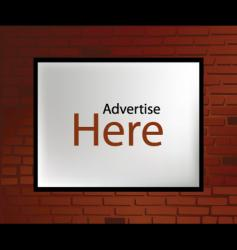 advertising wall vector image