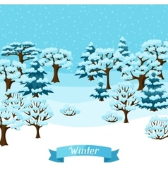 Winter background design with abstract stylized vector image