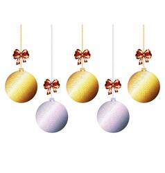 Decorative xmas balls7 vector