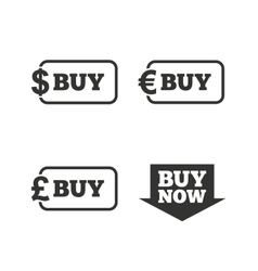 Buy now arrow sign online shopping icons vector