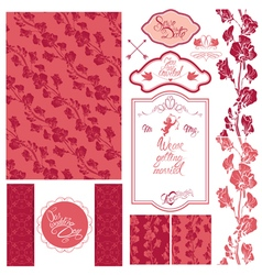 Wedding set pink 380 vector
