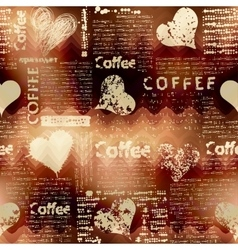 Coffee pattern on blurred background vector
