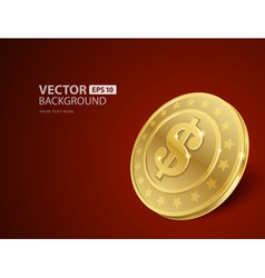 Dollars money coin vector image