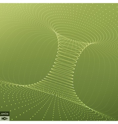 Abstract 3d surface looks like funnel grid vector