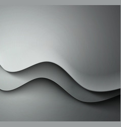 Abstract gray waved background vector image vector image
