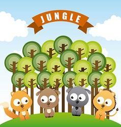 animal cute design vector image vector image