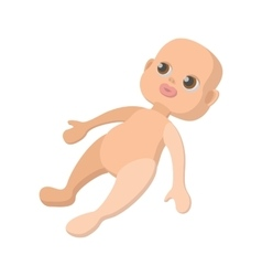 Baby doll cartoon icon vector image