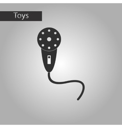 black and white style toy microphone vector image