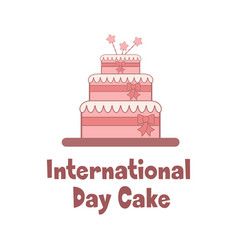 Bright holiday poster for international cake day vector