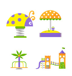 Children playground fun childhood play park vector